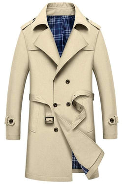 Double Breasted Belted Trench Coat