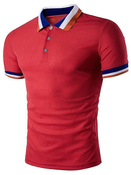 Turndown Collar Polo T-Shirt