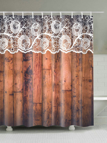 Unique Lace Woody Door Shower Curtain