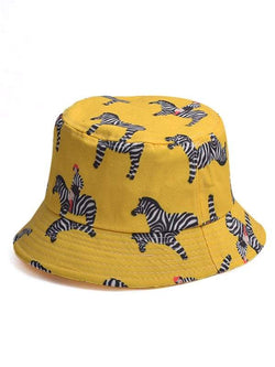 Zebra Printed Bucket Hat