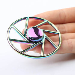 Wheel Shape Colorful Metal Fidget Spinner