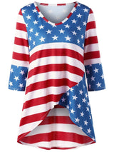 American Flag Print Tunic Top