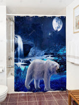 Bear Animal Shower Curtain with Hooks
