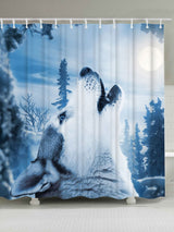 Bathroom Decor Snow Wolf Mouldproof Shower Curtain