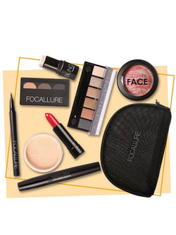 8PCS Cosmetics Makeup Set With Bag | HOTTOPTRENDS