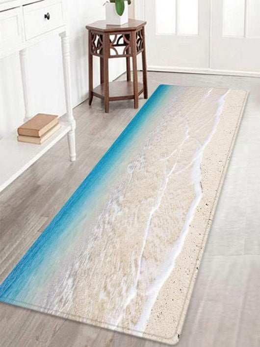 Beach Tidewater Pattern Indoor Outdoor Area Rug