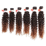 6PCS 14~18 Inches Colormix Jerry Wave Hair Weaves