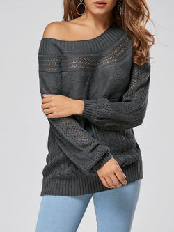 Hollow Out Cable Sweater