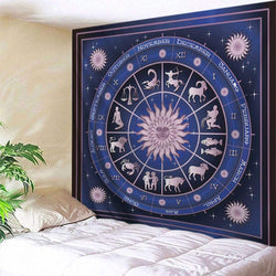 12 Constellations Print Tapestry Wall Hanging Art