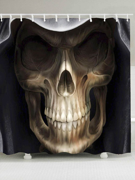 3D Terrible Skull Printed Halloween Shower Curtain