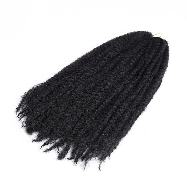 Kinky Curly Braids Synthetic long Hair Weave