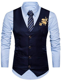 Single Breasted Floral Embroidered Waistcoat