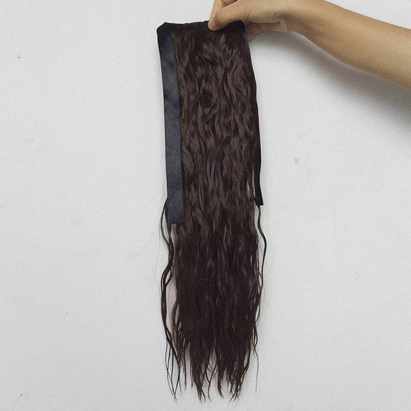 Medium Ponytail Water Wave Synthetic Hair Extension
