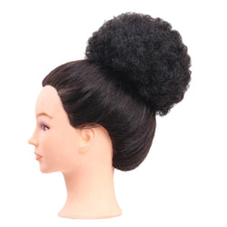 Short Curly Synthetic Cozy Hair Bun Ponytail Wig