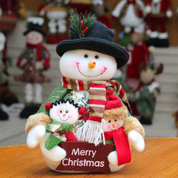 Snowman Santa Claus Dress-up Cloth Doll Ornament Christmas