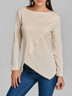 Asymmetrical Tunic Surplice T-shirt