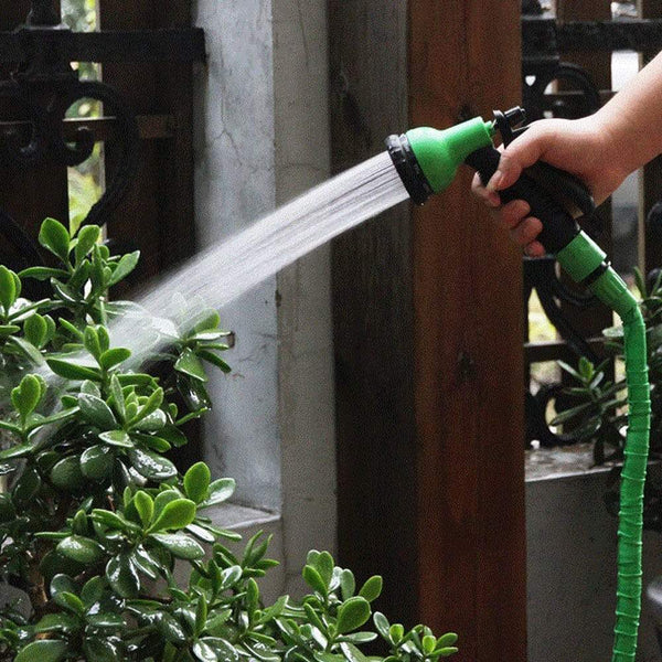 8-Mode Garden Magic Water Spray Head Adjustable Pipe Nozzle