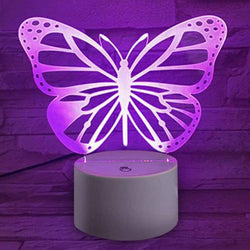 Butterfly Shape Touch Colors Changing LED Night Light Decoration