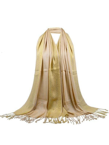 Unique Two Colors Reversible Fringed Long Scarf
