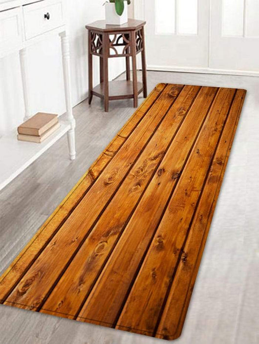 Antique Wood Flooring Pattern Indoor Outdoor Area Rug