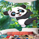 Bamboo Forest Panda Pattern Wall Art Tapestry