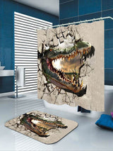 Angry Dinosaur 3D Print Bath Shower Curtain