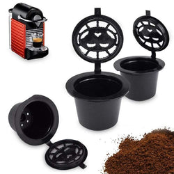 Stainless Steel Filter Refillable Coffee Capsule Cup Food-grade PP Reusable Refilling Strainer