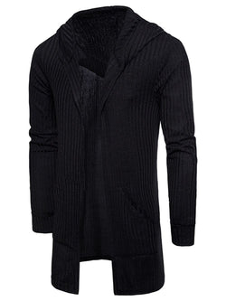 Pockets Longline Knitting Cardigan
