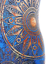 Backless Ethnic Print Mini Party Dress