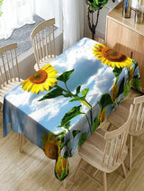 3D Sunflowers Printed Waterproof Table Cloth