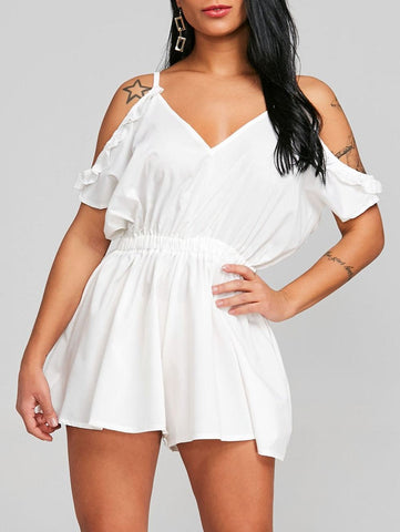 Cami Open Shoulder Cut Out Romper