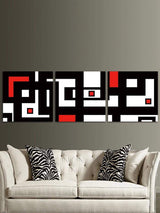 A Maze Map Printed Split Canvas Wall Art Paintings