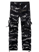 Accordion Pleat Camouflage Cargo Pants