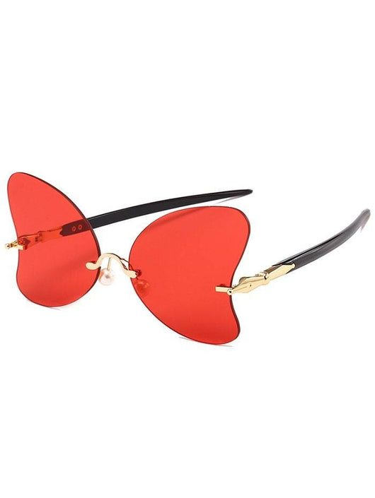 Rimless Pearl Butterfly Sunglasses | HOTTOPTRENDS