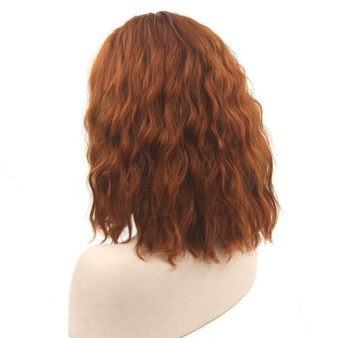 Black Hood High Temperature Short Silk Curly Hair