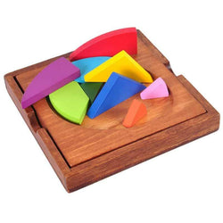 Wooden Three-Dimensional Jigsaw Puzzle Intelligence Toy for Kids