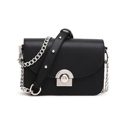Women Fashion Silver Ball Buckle Chain Crossbody Bag