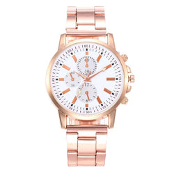 Zhou Lianfa New Trendy Fashion Imitation Three Rose Gold Steel Watch