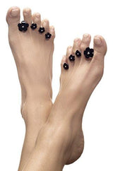 Dip Into Pretty Bouquet of Black Silicone Toe Separators 8-Piece