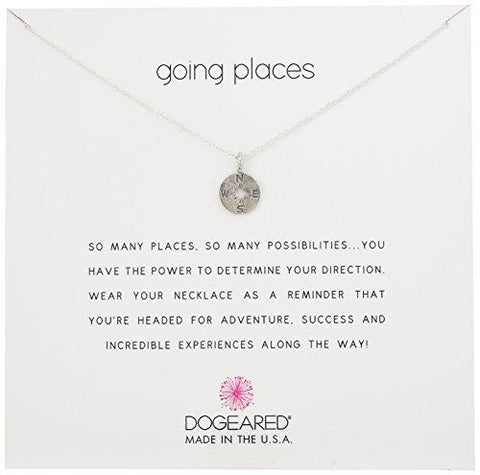 """Going Places"" Compass Disc Chain Necklace"