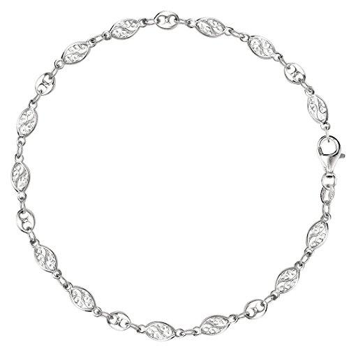 Filigree And Mariner Link Chain Anklet