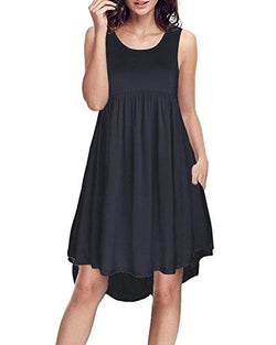 Pockets Casual Loose Swing Flare Dress