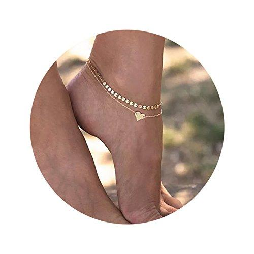 Multilayer Infinite Love Charms Chain Anklets