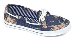 Canvas Lace Up Flat Slip On Boat
