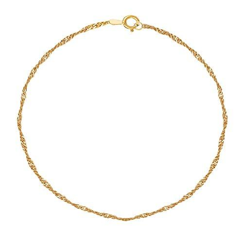 10K Gold Singapore Ankle Anklet