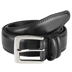 Men's Dress Belt ALL Genuine Leather Black Tan