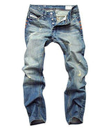 ACEFAST INC Men Ripped Straight Denim Jeans