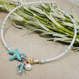 Handmade Shell Beads Ankle Chain