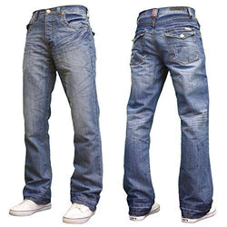 APT Mens Fit Bootcut Jeans