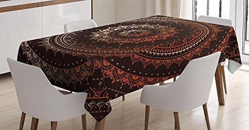 Mandala Decor Tablecloth by Ambesonne